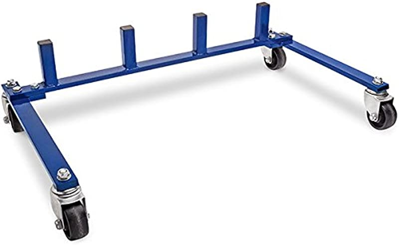 Eastwood Hydraulic Wheel Dolly Storage Rack Store 4 Wheel Dollies On A Convenient Rolling Cart
