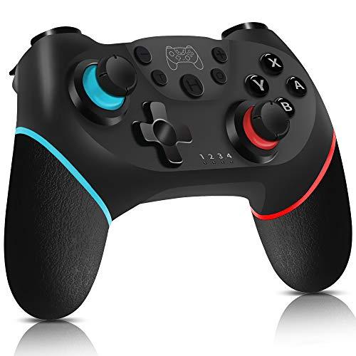 Mando Nintendo Switch, Control inalámbrico para Nintendo Switch - Control de juego con Turbo, Giroscopio, Sensor de movimiento y Dual Shick