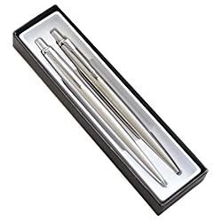 commercial Parker JOTTER ballpoint pen and stainless steel mechanical pencil (1741243) parker pen sets