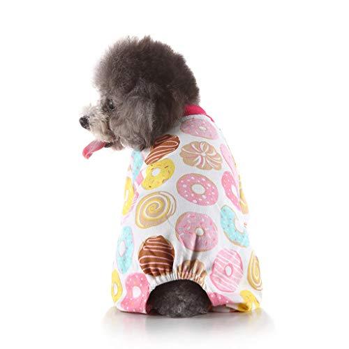 Sylar Ropa para Mascotas, Camiseta De Algodn Disfraz De Cachorro para Perro Pequeo Jersey Deportes Suave Transpirable De Perros Gatos Camisetas De Manga Larga Cuello Redondo con Estampado Naranja