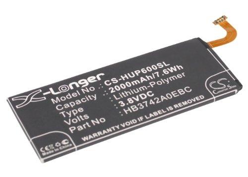CS-HUP600SL Batería 2000mAh Compatible con [Huawei] Alek 4G, Ascend G6, Ascend G6-L11, Ascend G6-L22, Ascend G6-L33, Ascend G6-T00, Ascend G6-U00, Ascend G6-U10, Ascend G610, Ascend G620, Ascend G620
