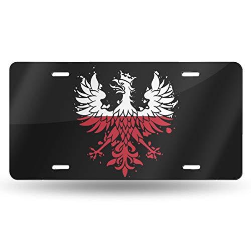 KARCARTAG Polish Eagle Polska Poland Flag Novelty License Plate Tag Sign Car Accessories