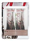 Tex family Cortina I Love Paris 160 x 300 cm, confeccionada en Italia, mezcla de lino