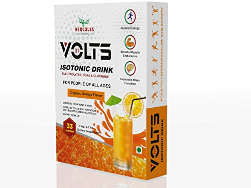 Hercules Volts Isotonic Drink Organic Orange Flavor 1 KG / 2.2 LBS