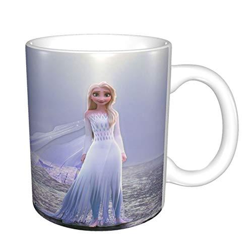 Frozen Elsa - Taza mágica con asas grandes para el hogar y la oficina, regalo para mujeres/hombres/niños