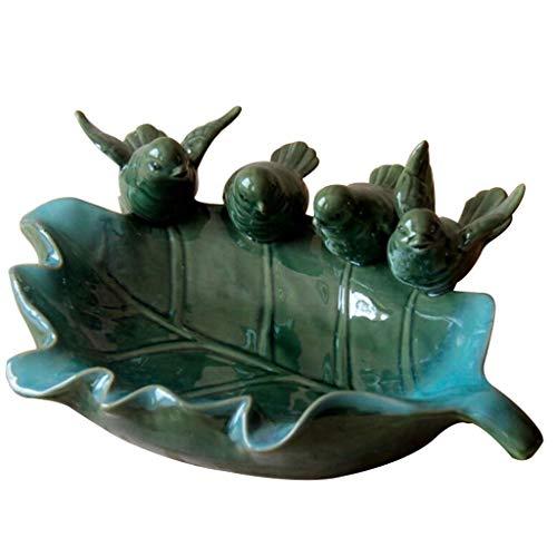 ZLININ Placa de cerámica Bird Ollas Fruta de la Sala Snack-Placa Adornos Caramelo de la Placa del bocado de la Placa Plato de Fruta