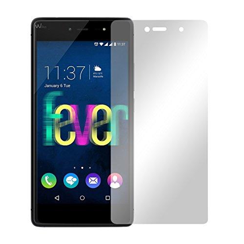 Slabo 2 x Bildschirmfolie für Wiko Fever 4G Bildschirmschutzfolie Zubehör Crystal Clear KLAR