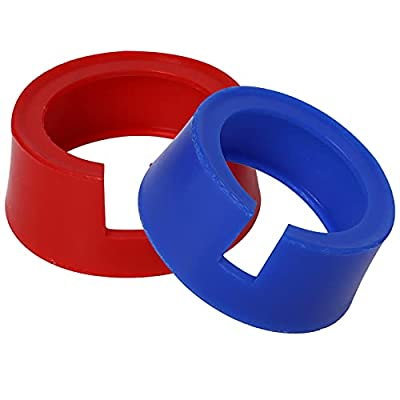 """49190 Boot for Yellow Jacket HVAC Gauge Boots 3-1/8"""" Gauge 1 Pair Red Blue AC Gauges Protective Cover"""
