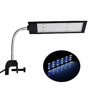 NICREW-LED-Aquarium-Beleuchtung-Aquarienbeleuchtung-mit-leistungsstarkem-Clip-fr-Kleine-Aquarium-Wei-und-Blaulicht