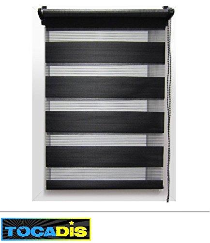 Store Enrouleur Journuit 4 Coloris 12 Tailles Differentes Tocadis 45 X 180 Cm Noir