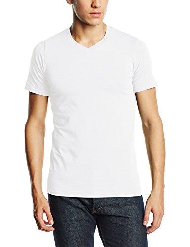 Stedman Apparel Clive (V-Neck)/ST9610 Premium T-Shirt, Blanc, L Homme