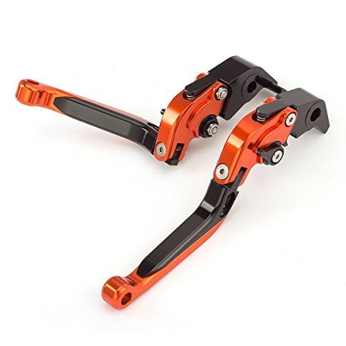 FXCNC Racing Folding Extendable Adjustable Brake Clutch Levers for KTM 1090 Adventure/R 17-18, Adventure 1050 2016, 690 Duke/SMC/SMCR/690 Enduro R 14-17, Husqvarna 701 Supermoto/Enduro 17-19