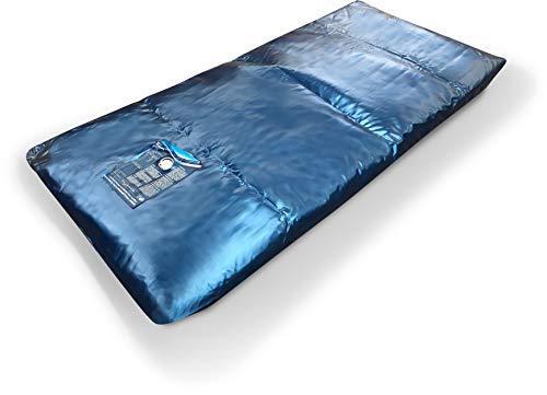 Aqua Sense Eine Wasserbett Matratze 100x220 für 200x220 Softside Wasserbett Dual Wasserkern Wassermatratze Wasserbettmatratze Mesamoll2® (60% Beruhigung) + 2 Wasserbett Conditioners (100 ml)