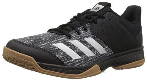 adidas Women's Ligra 6 Volleyball Shoe, Black/Silver Metallic/White, 11.5 M US