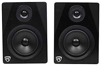 "Rockville APM5B 5.25"" 2-Way 250W Active/Powered USB Studio Monitor Speakers Pair by Audiosavings"