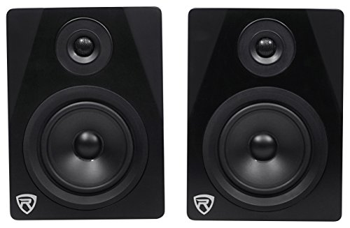 "Rockville APM5B 5.25"" 2-Way 250W Active/Powered USB Studio Monitor Speakers Pair"