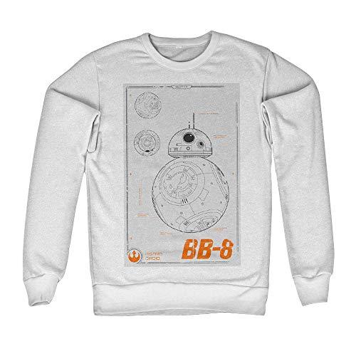 Officiellement Marchandises sous Licence BB-8 Blueprint Sweatshirt (Blanc), Large