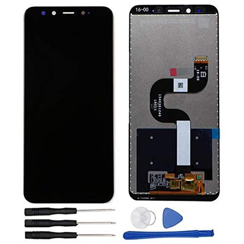 soliocial Asamblea Pantalla LCD Pantalla Táctil Vidrio para Xiaomi Mi A2 MiA2/ Mi 6X M1804D2SE Mi6X Negro (Black)
