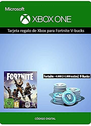 Tarjeta regalo de Xbox para Fortnite - 4000 paVos (+1000 adicionales) [Xbox Live Código Digital]