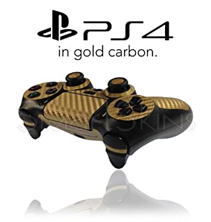 Playstation 4 PS4 Controller Skin in Gold Carbon Wrap Cover Decal (B00ID6UQ8Y) | Amazon price tracker / tracking, Amazon price history charts, Amazon price watches, Amazon price drop alerts