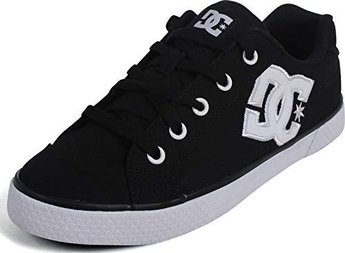 DC Women's Chelsea Low Top Casual Skate Shoe, Black/White/Black, 7.5 M US