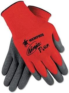 Memphis N9680 Red Ninja Flex Gloves, 15 Gauge, Size XLarge, (12 Pair)