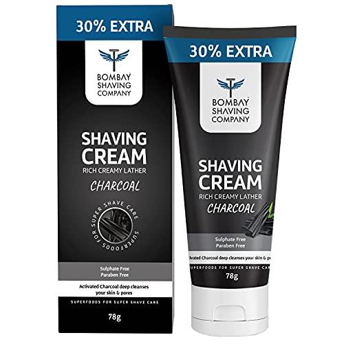 Bombay Shaving Company Charcoal Shaving Cream – 78g