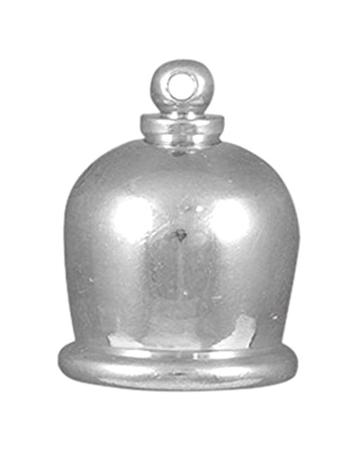 TierraCast Cord End Taj Beads, 10mm Inner Diameter/17mm, Bright Rhodium