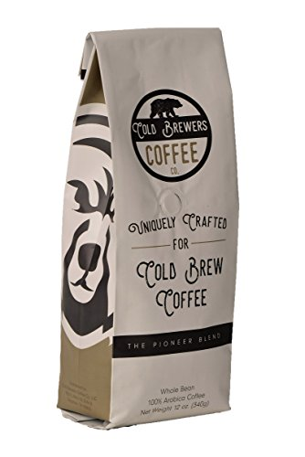 Pioneer Blend: Uniquely Crafted Cold Brew Coffee Beans- 100% Arabica, Whole Bean, Low Acidity, Micro Roasted-Small Batch, Best For Cold Brew Coffee Concentrate