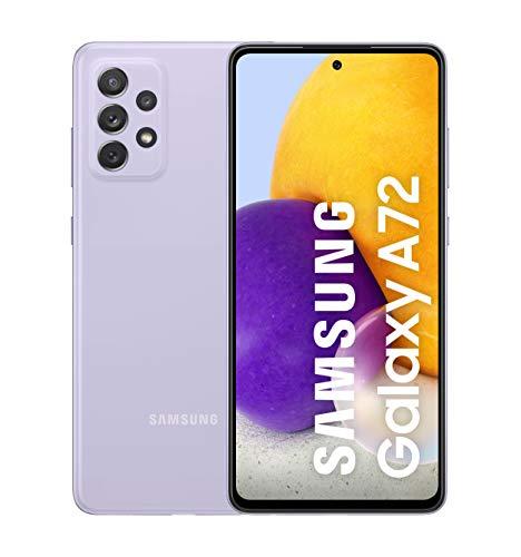 Samsung Smartphone Galaxy A72 con Pantalla Infinity-O FHD+ de 6,7 Pulgadas, 6 GB de RAM y 128 GB de Memoria Interna Ampliable, Batería de 5000 mAh y Carga Superrápida Violeta (ES Versión)