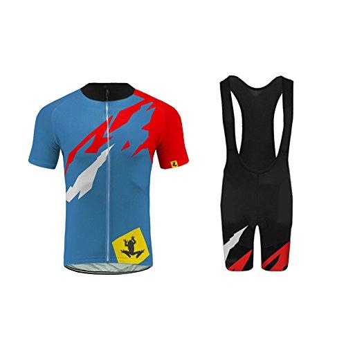 Uglyfrog -Newest-August Designs Sport Radsport Trikots & Shirts+Trägerhosen Sets with Gel Pad Kurzarm Herren Sommer Stil Bekleidung Atmungsaktiv Clothes
