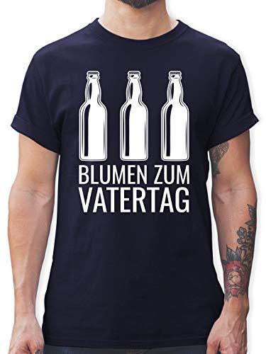 Vatertagsgeschenk - Blumen zum Vatertag - XL - Navy Blau - Papa - L190 - Tshirt Herren und Männer T-Shirts