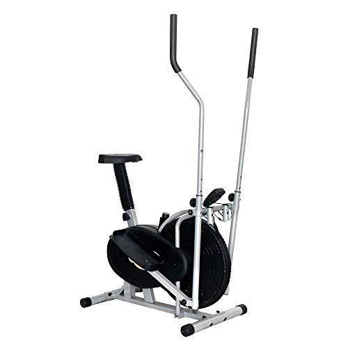 WEI-LUONG Plegable Bicicleta elíptica máquina elíptica Entrenador Compacto Life Fitness Ejercicio Equipo for casa Offic magnética 91x50.5x152.5cm sesión de Cardio Plegable ⭐