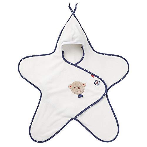 Fehn 078664 Einschlagdecke Teddy / Kuschelige Babydecke mit Klettverschluss für Kinderwagen, Babytrage, Autositz, Babybett, für Babys von 0-6 Monaten