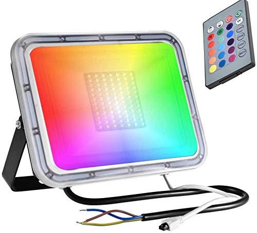 Flood & Spot Lighting Luz de inundación LED C8 RGB Función de Memoria 16 Colores 4 Modos Luz de inundación Impermeable con Control Remoto para Interiores y Exteriores