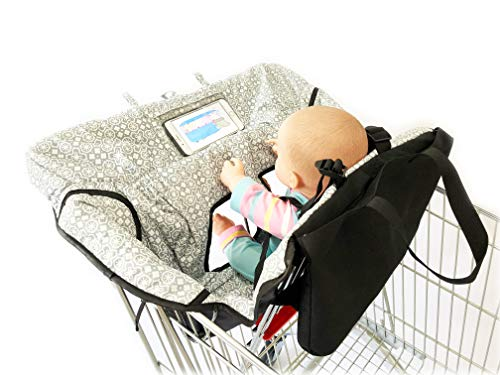 Why Should You Buy Waterproof 2-in-1 Baby Shopping Cart Cover & High Chair Covers with Safety Harness for Babies & Toddler (Unisex Gray)