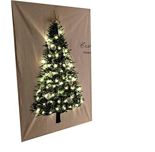Geagodelia 2019 - Decoración de pared navideña con adornos para colgar en la pared de Navidad, grandes Bianco 150 cm*75 cm