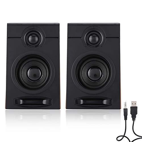 Diyeeni Altavoces para computadora 5V / 1A 3in Altavoz Grande HiFi Music PC sin subwoofer Adecuado para TV, computadora, Tablet PC, teléfono y Otros Dispositivos de Audio: Amazon.es: Electrónica