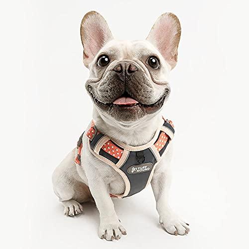 Arnés Antitirones Perro Chaleco Cómodo para Perros Mediano con Correa para Bulldog Frances Talla XL Tela de Malla Chaleco para Perros Arnés Suave Ajustable Cómodo para Perro