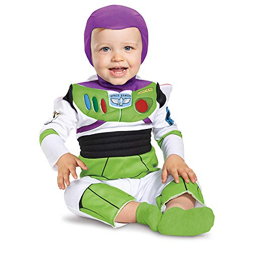 Disguise Costumes Buzz Lightyear Deluxe Costume (Infant), Lime,White, 12-18 Meses