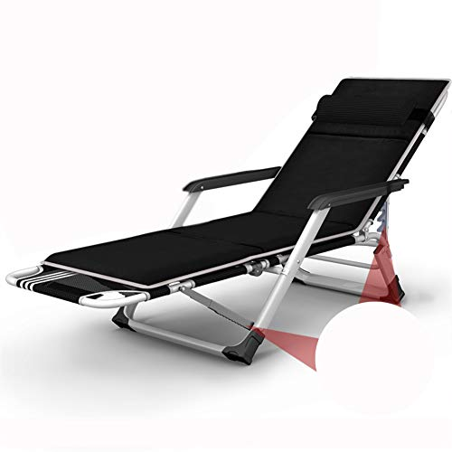VIVOCC Réglable Fauteuil Zero Gravity Chaise, Pliant Plein air Dossier inclinable Chaises Longues Chaise Longue Canapé-lit avec Le Coussin Epaissir Plage Patio-H 52x65x98cm(20x26x39inch)