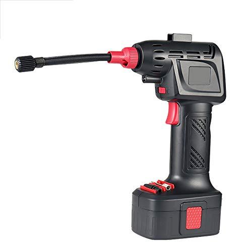 Le compresseur d'air tenu dans la main portatif de gonfleur de pneu sans fil, s'arrête automatiquement pour la batterie rechargeable 12V de LI-ion de jauge de pression de moto de vélo de voiture