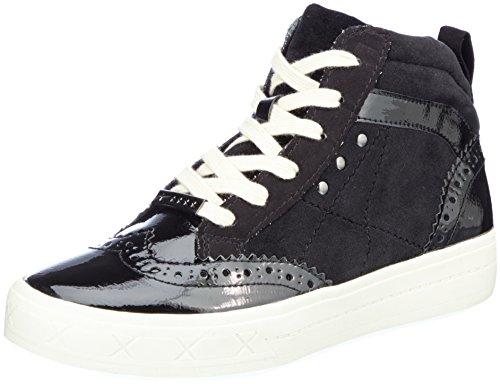 Tamaris Damen 25207 Hohe Sneaker, Schwarz (Black Comb), 36 EU