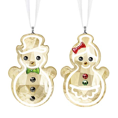 "SWAROVSKI Snowman Ornament, 1 3/4"" x 1"", Gingerbread Couple"