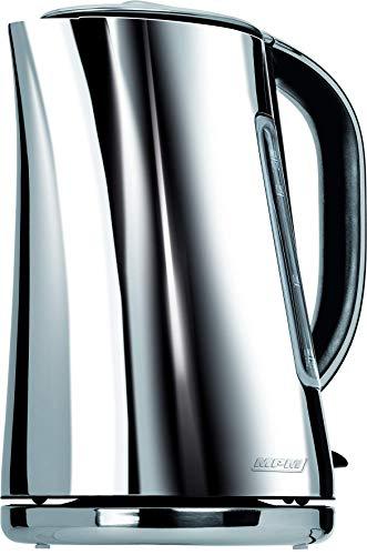 MPM MCZ-71P 1,7-Liter-Elektrokessel, elegantes modernes Design, BPA-freier Edelstahl, verdecktes Heizelement, 2200 W mit automatischer Abschaltung beim Kochen, schnurloses 360°, Kalkfilter, Silver