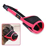 Andiker Dog Mouth Cover Mesh and Durable Nylon Dog Muzzle with Adjustable Loop and Soft Pad Dog Training...