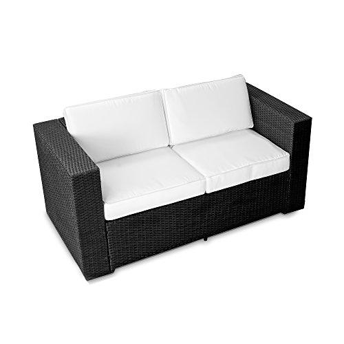 XINRO (2er Polyrattan Lounge Sofa - Gartenmöbel Couch Bank Rattan - durch andere Polyrattan Lounge...