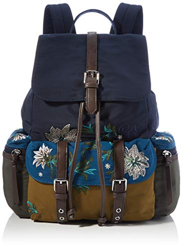 Desigual Womens Accessories Fabric MEDIUM BACKPACK, Blue, U