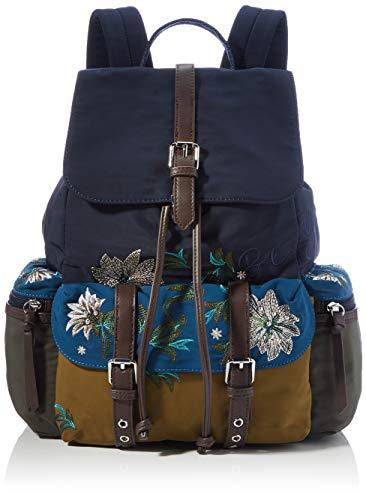 Desigual Accessories Fabric Backpack Medium, Zaino Donna, Blu, U