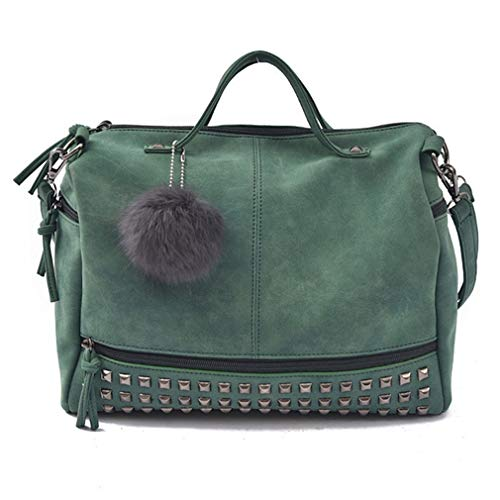 ★ FEATURES: Top zipper closure, 2 side zipper pockets design, stylish pom pom ball decoration which can be removed. The unique and vintage style is easy to go with, you can carry it when you go to school, college, office or go shopping, traveling and...